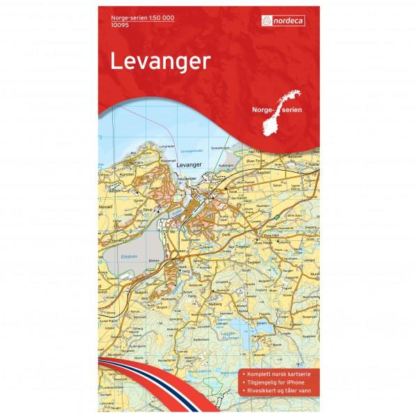 Nordeca - Wander-Outdoorkarte: Levanger 1/50 - Vaelluskartat