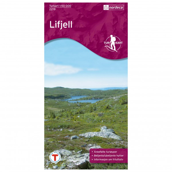 Nordeca - Wander-Outdoorkarte: Lifjell 1/50 - Hiking map