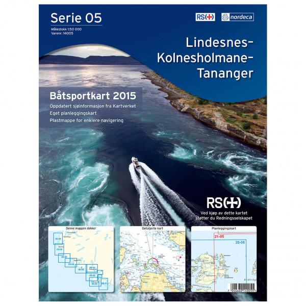 Nordeca - Bootsportkarte: Lindesnes-Kolnesholmane-Tananger - Hiking map