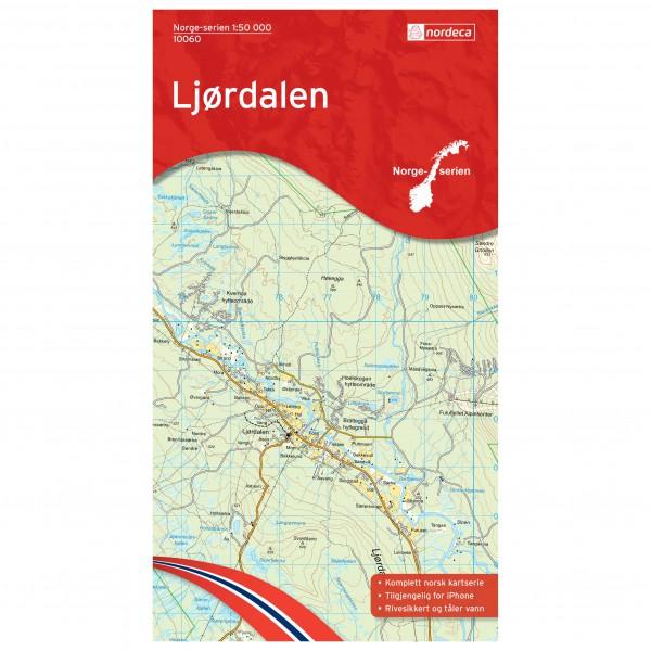 Nordeca - Wander-Outdoorkarte: Ljørdalen 1/50 - Vandrekort