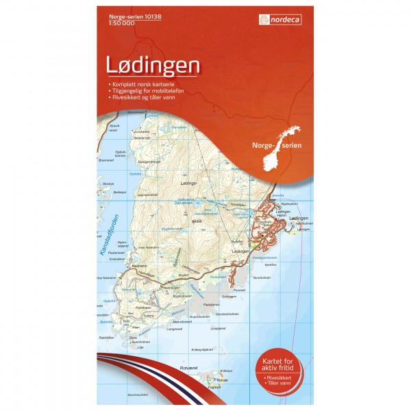 Nordeca - Wander-Outdoorkarte: Lødingen 1/50 - Vaelluskartat