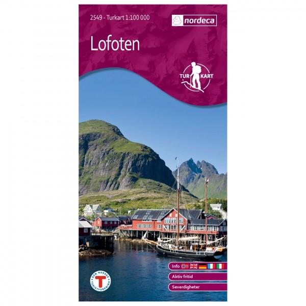Nordeca - Wander-Outdoorkarte: Lofoten 1/100 - Carte de randonnée