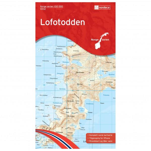 Nordeca - Wander-Outdoorkarte: Lofotodden 1/50 - Vandrekort