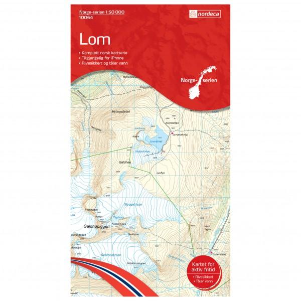 Nordeca - Wander-Outdoorkarte: Lom 1/50 - Wandelkaarten