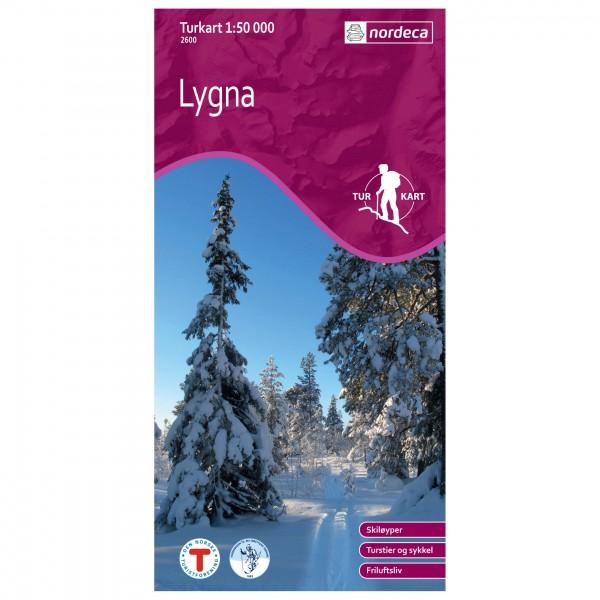 Nordeca - Wander-Outdoorkarte: Lygna 1/50 - Wanderkarte
