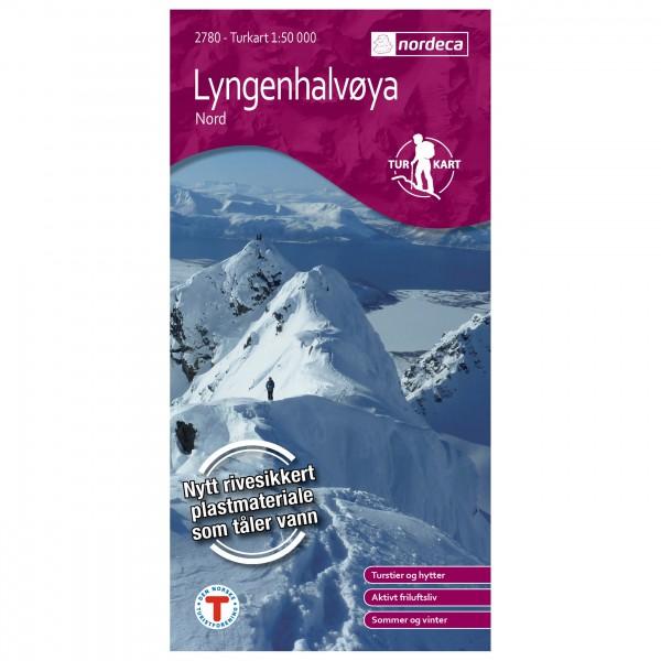 Nordeca - Wander-Outdoorkarte: Lyngenhalvøya Nord 1/50 - Wandelkaarten