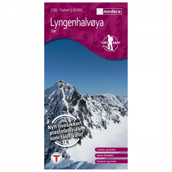 Nordeca - Wander-Outdoorkarte: Lyngenhalvøya Sør 1/50 - Hiking map