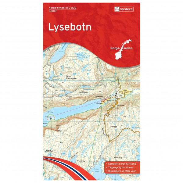 Nordeca - Wander-Outdoorkarte: Lysebotn 1/50 - Vaelluskartat