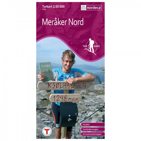 Nordeca - Wander-Outdoorkarte: Meråker Nord 1/50 - Vaelluskartat