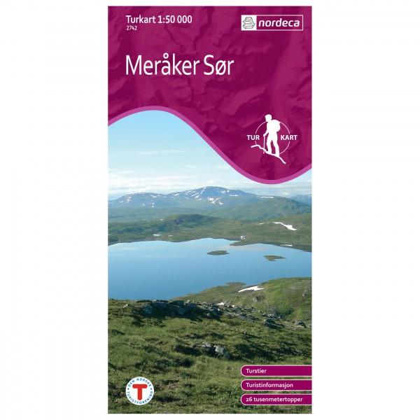 Nordeca - Wander-Outdoorkarte: Meråker Sør 1/50 - Vaelluskartat