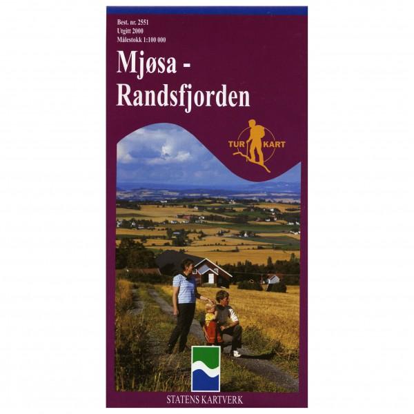 Nordeca - Wander-Outdoorkarte: Mjøsa-Randsfjorden 1/100 - Wandelkaarten