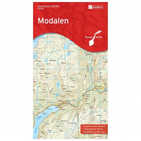 Nordeca - Wander-Outdoorkarte: Modalen 1/50 - Hiking map
