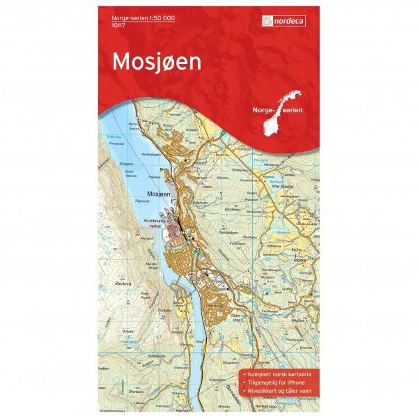 Nordeca - Wander-Outdoorkarte: Mosjoen 1/50 - Vandringskartor