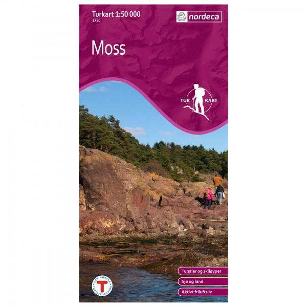 Wander-Outdoorkarte: Moss 1/50 - Hiking map
