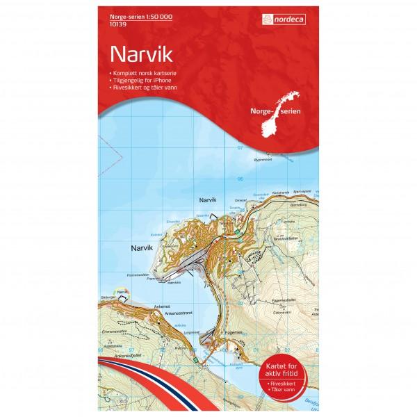 Nordeca - Wander-Outdoorkarte: Narvik 1/50 - Vaelluskartat