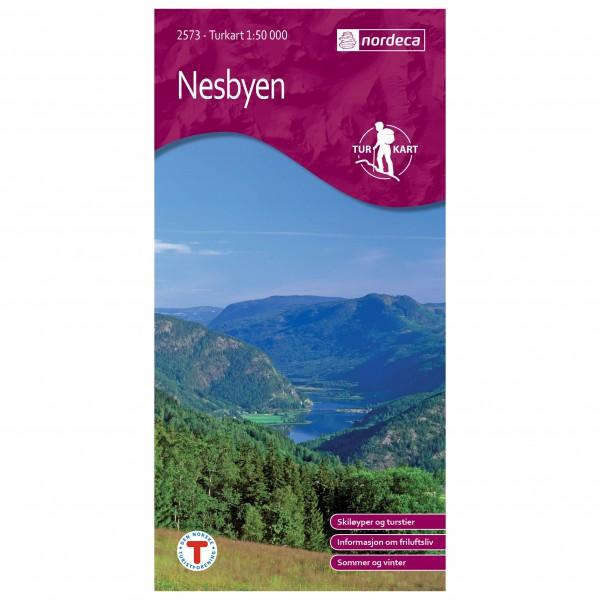 Nordeca - Wander-Outdoorkarte: Nesbyen 1/50 - Wanderkarte