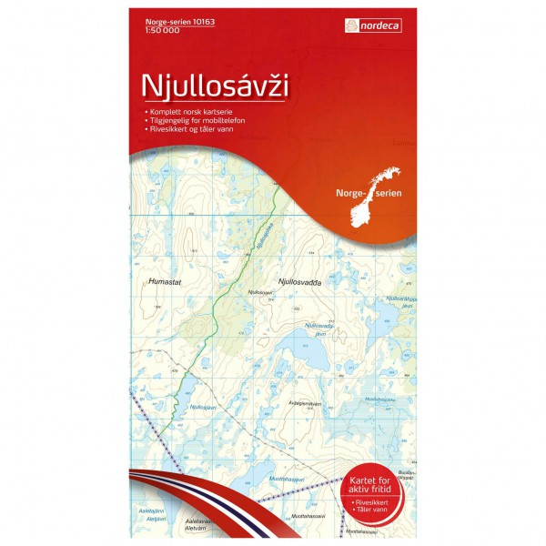 Nordeca - Wander-Outdoorkarte: Njullosavzi 1/50 - Hiking map