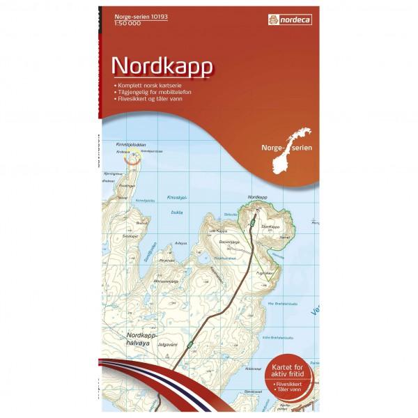 Nordeca - Wander-Outdoorkarte: Nordkapp 1/50 - Vandrekort
