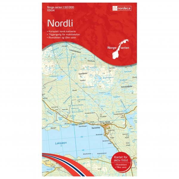 Nordeca - Wander-Outdoorkarte: Nordli 1/50 - Vaelluskartat