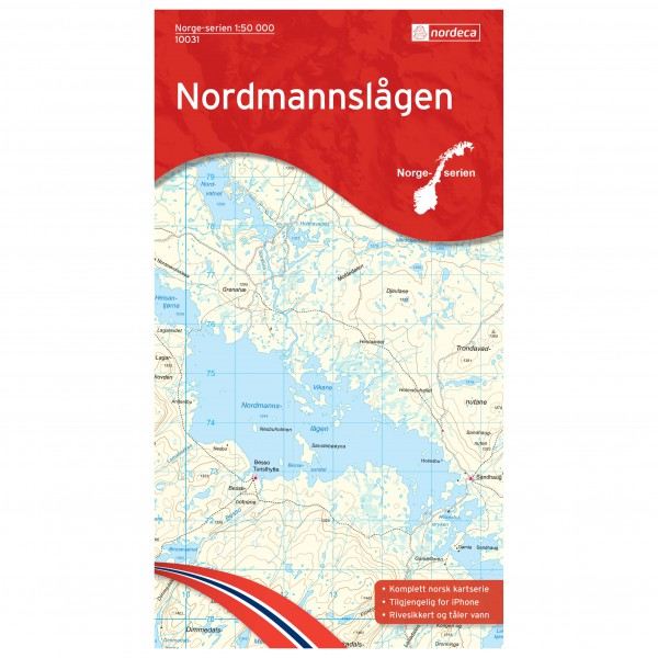 Nordeca - Wander-Outdoorkarte: Nordmannslagen 1/50 - Wandelkaart