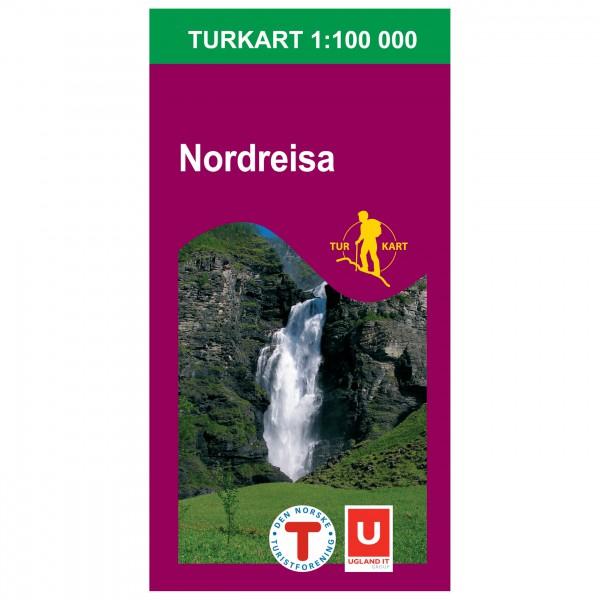 Nordeca - Wander-Outdoorkarte: Nordreisa 1/100 - Turkart