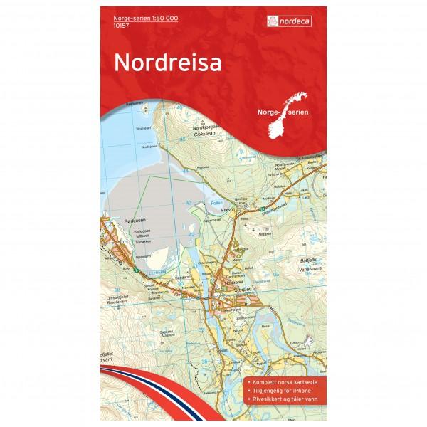 Nordeca - Wander-Outdoorkarte: Nordreisa 1/50 - Vaelluskartat