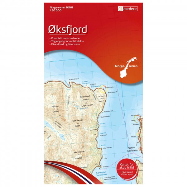 Nordeca - Wander-Outdoorkarte: Oksfjord 1/50 - Wanderkarte