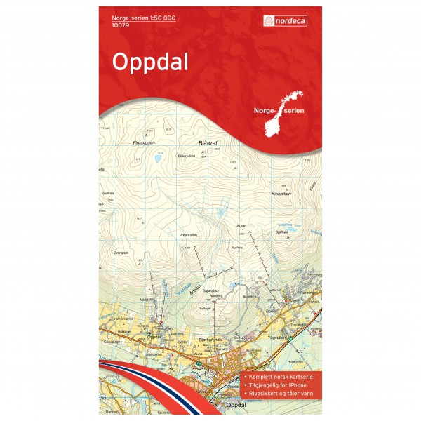 Nordeca - Wander-Outdoorkarte: Oppdal 1/50 - Hiking map