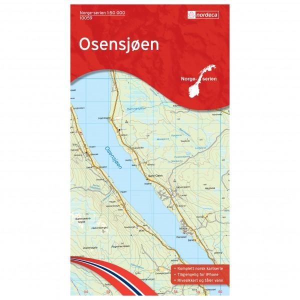 Nordeca - Wander-Outdoorkarte: Osensjøen 1/50 - Wandelkaarten