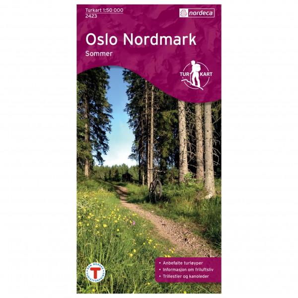 Nordeca - Wander-Outdoorkarte: Oslo Nordmark Sommer 1/50 - Hiking map