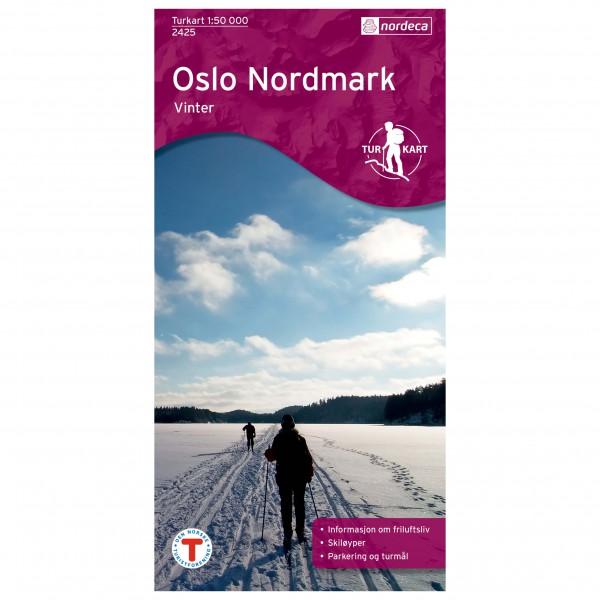 Nordeca - Wander-Outdoorkarte: Oslo Nordmark Vinter 1/50 - Vandringskartor