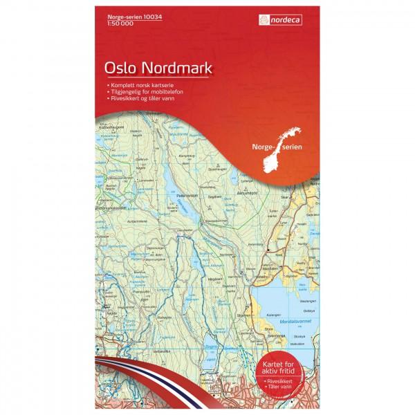 Nordeca - Wander-Outdoorkarte: Oslo Nordmarki 1/50 - Wandelkaarten