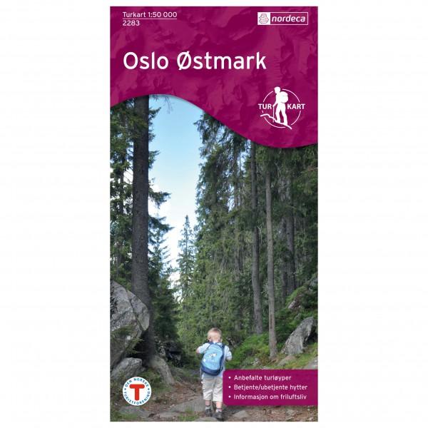 Nordeca - Wander-Outdoorkarte: Oslo Østmark 1/50 - Vaelluskartat