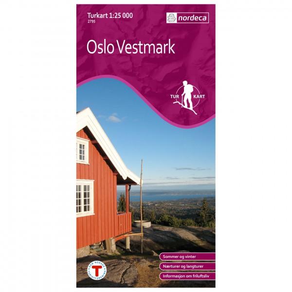 Nordeca - Wander-Outdoorkarte: Oslo Vestmark 1/25 - Wanderkarte