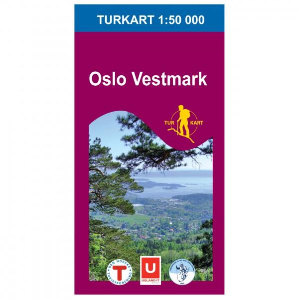 Nordeca - Wander-Outdoorkarte: Oslo Vestmark 1/50 - Wandelkaarten