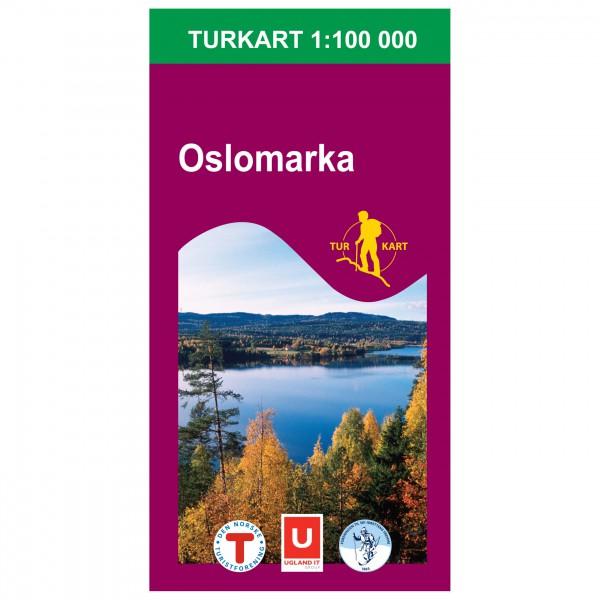 Nordeca - Wander-Outdoorkarte: Oslomarka 1/100 - Vaelluskartat