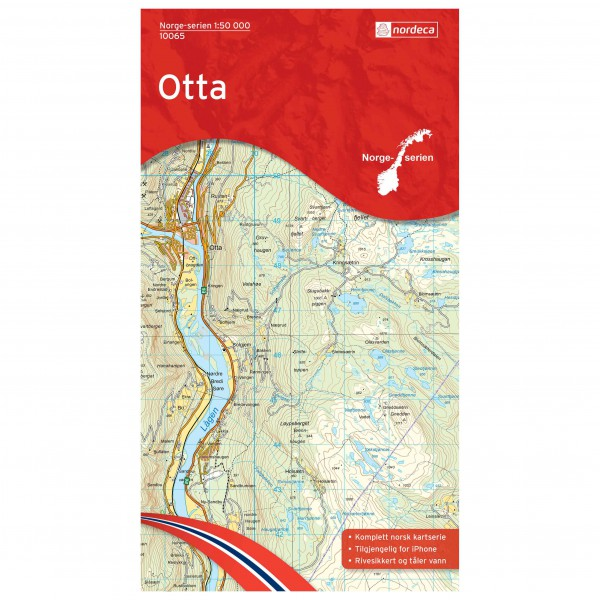 Nordeca - Wander-Outdoorkarte: Otta 1/50 - Wanderkarte