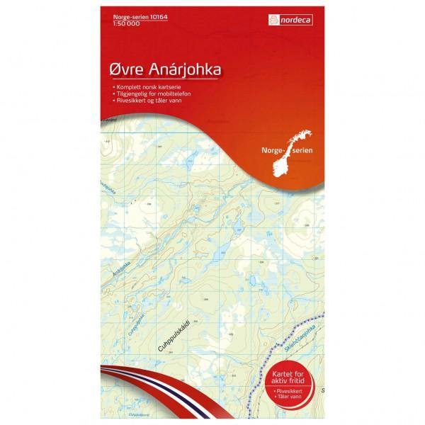 Nordeca - Wander-Outdoorkarte: Øvre Anarjohka 1/50 - Vandringskartor