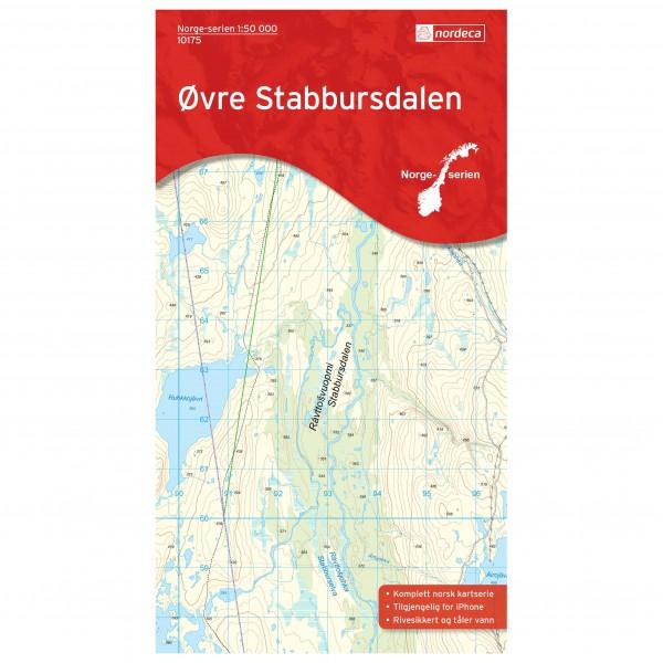Nordeca - Wander-Outdoorkarte: Øvre Stabbursdalen 1/50 - Wanderkarte