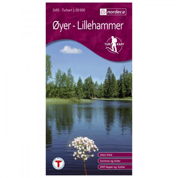 Nordeca - Wander-Outdoorkarte: Øyer - Lillehammer 1/50 - Wanderkarte
