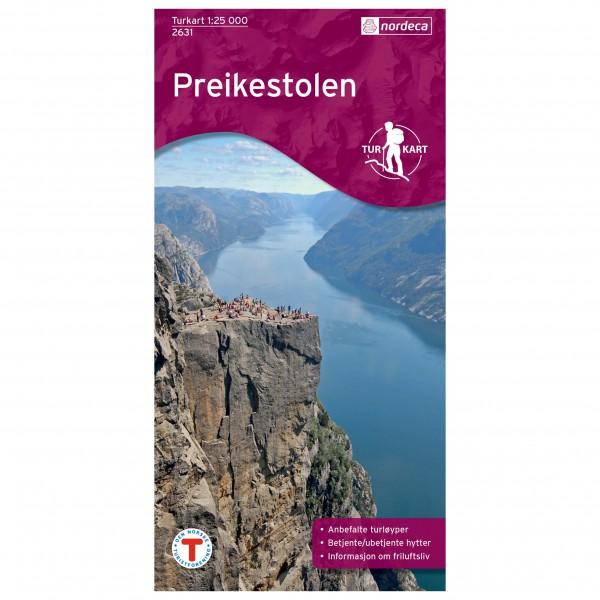 Nordeca - Wander-Outdoorkarte: Preikestolen 1/25 - Vandringskartor