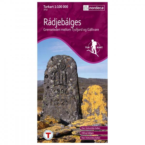 Nordeca - Wander-Outdoorkarte: Radjebalges 1/100 - Wandelkaarten
