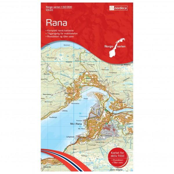 Nordeca - Wander-Outdoorkarte: Rana 1/50 - Wandelkaarten