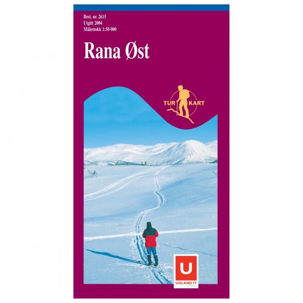 Nordeca - Wander-Outdoorkarte: Rana Øst 1/50 - Vaelluskartat