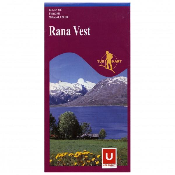 Nordeca - Wander-Outdoorkarte: Rana Vest 1/50 - Vandringskartor
