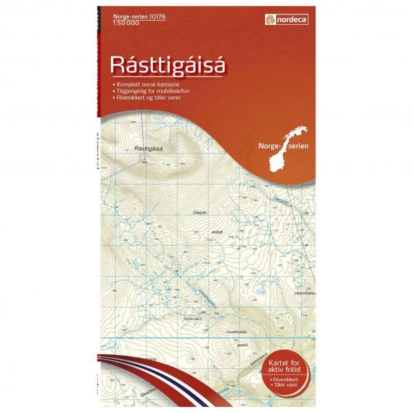 Nordeca - Wander-Outdoorkarte: Rasttigaisa 1/50 - Hiking map