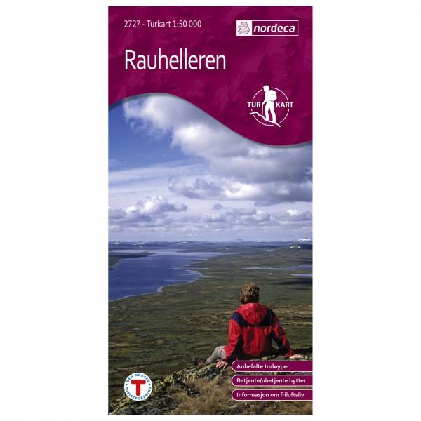 Nordeca - Wander-Outdoorkarte: Rauhelleren 1/50 - Vandrekort