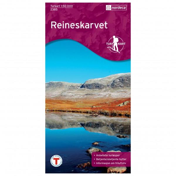 Nordeca - Wander-Outdoorkarte: Reineskarvet 1/50 - Vandrekort