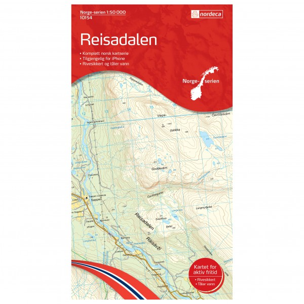 Nordeca - Wander-Outdoorkarte: Reisadalen 1/50 - Turkart
