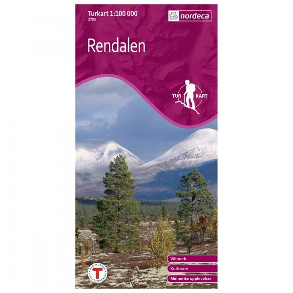 Nordeca - Wander-Outdoorkarte: Rendalen 1/100 - Vandrekort